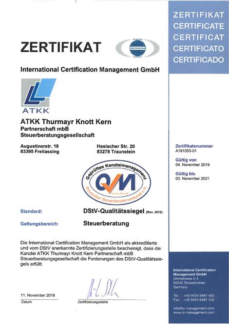 ATKK Steuerberater in Freilassung und Traunstein